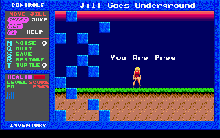 Jill of the Jungle: Jill Goes Underground DOS A shot from ending.