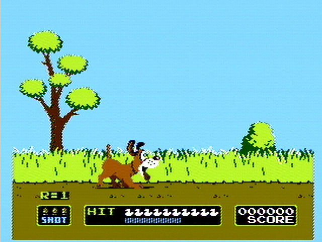 Duck Hunt NES Your trusty dog is on the trail of some ducks