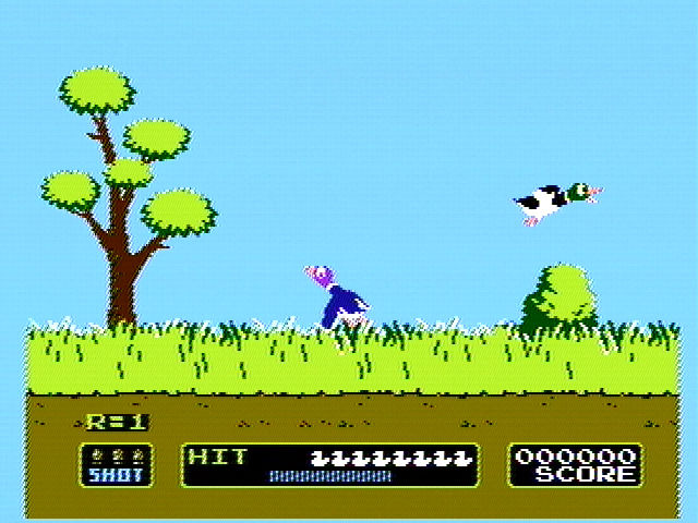 Duck Hunt NES And the ducks take off...