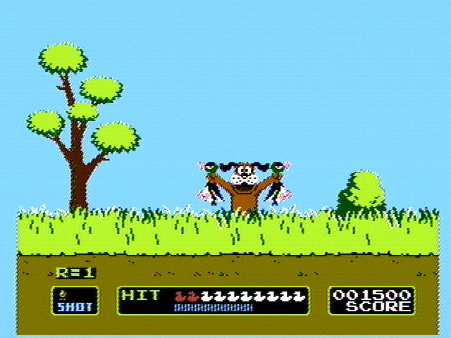 Duck Hunt NES Your dog retrieves the ducks, or laughs if you miss