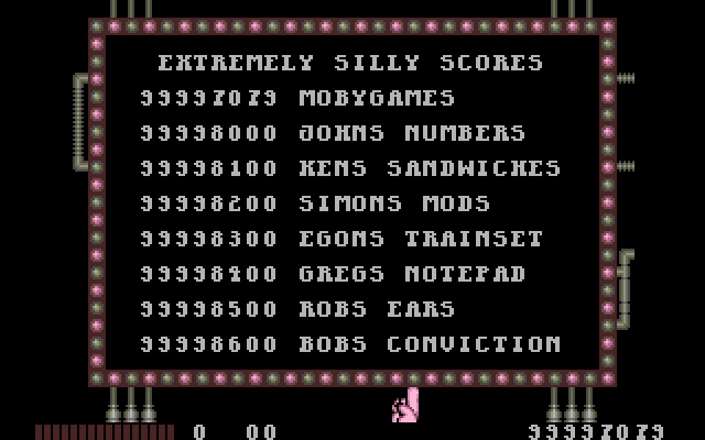 Monty Python's Flying Circus DOS High scores.