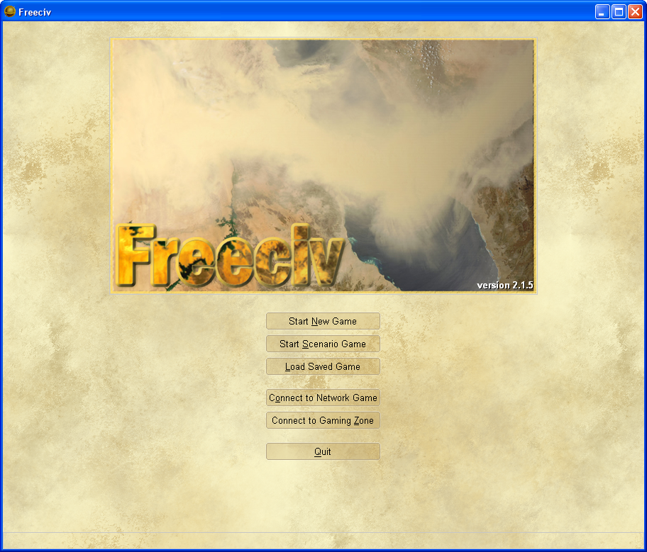 Freeciv Windows Main menu