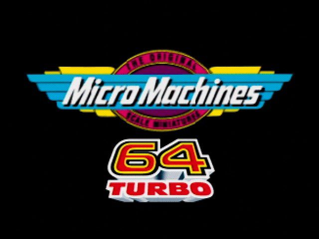 Micro Machines 64 Turbo Nintendo 64 Title Screen