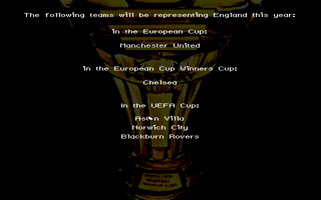 On the Ball DOS Who's representing the UK in the UEFA cup.