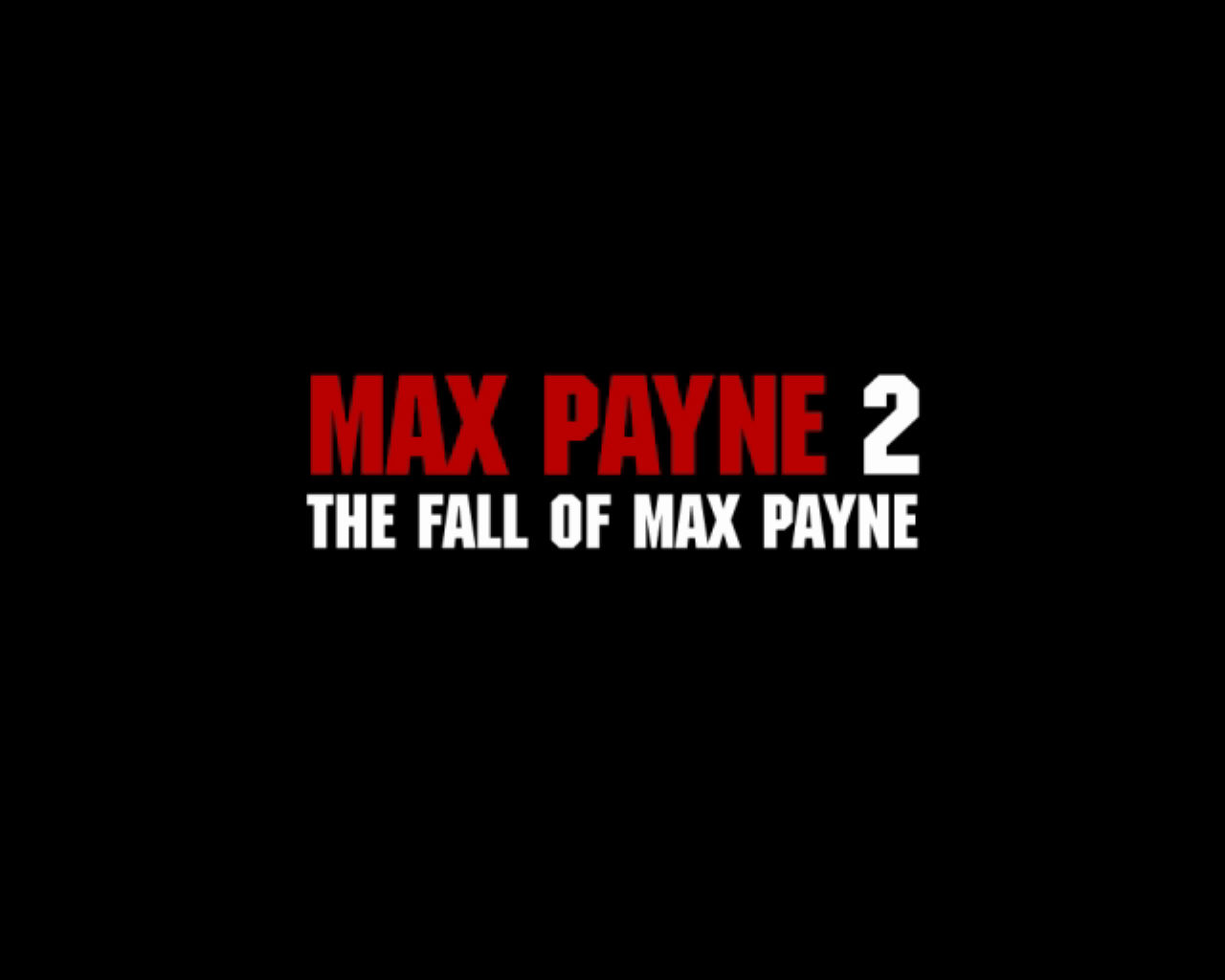 Max Payne 2: The Fall of Max Payne Windows Title screen