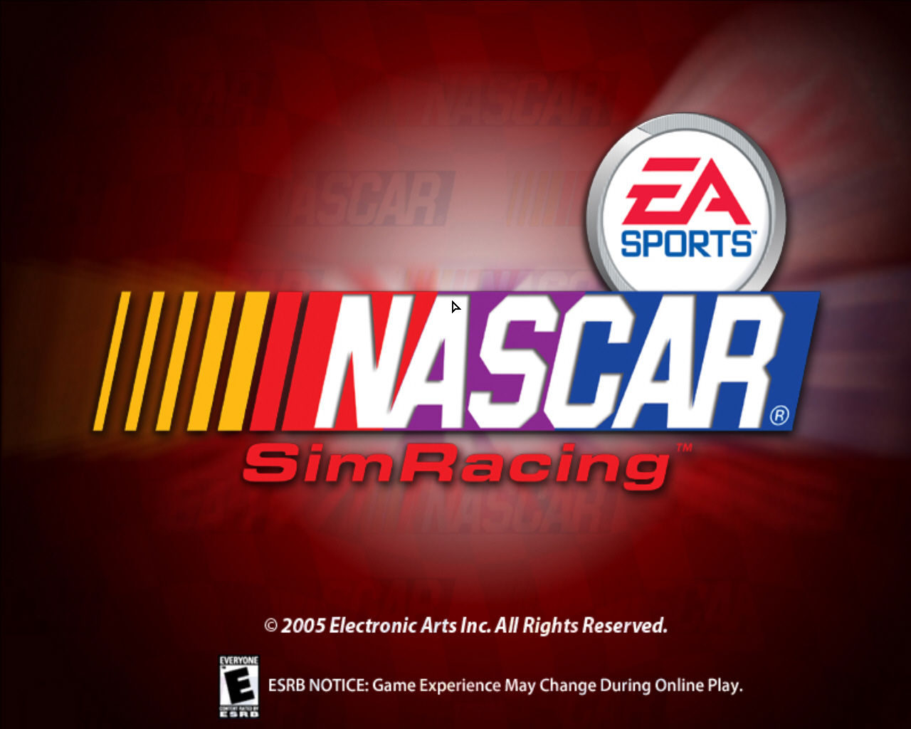 NASCAR SimRacing Windows Title screen
