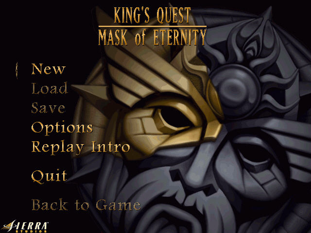 King's Quest: Mask of Eternity Windows Title screen