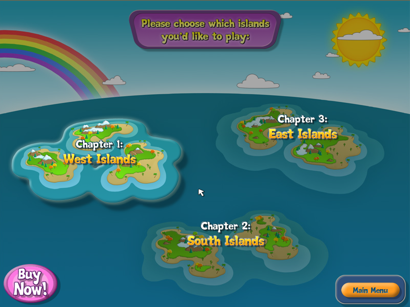 FizzBall Linux Select the island group to start from. Initially, only the West Islands are available.