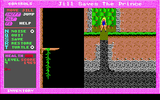 Jill of the Jungle: Jill Saves the Prince DOS Hey, where is the ground?