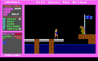 Jill of the Jungle: Jill Saves the Prince DOS And this is a giant, crazed lizard-man!