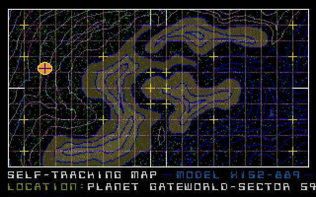 Gateworld: The Home Planet DOS Approaching Planet Gateworld.