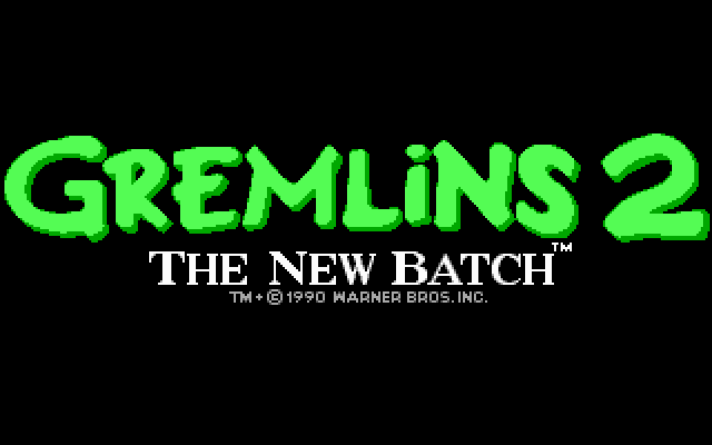 Gremlins 2: The New Batch DOS Title screen