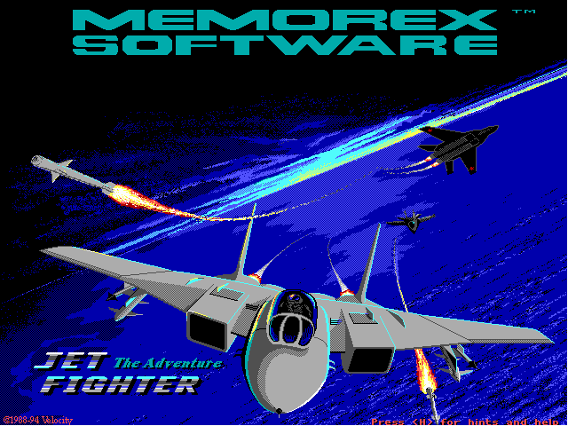 JetFighter: The Adventure DOS Title screen
