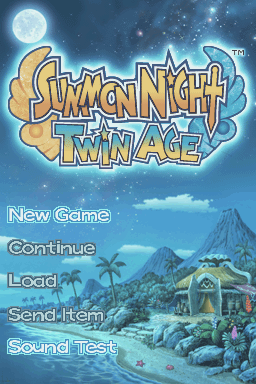 Summon Night: Twin Age Nintendo DS Main menu