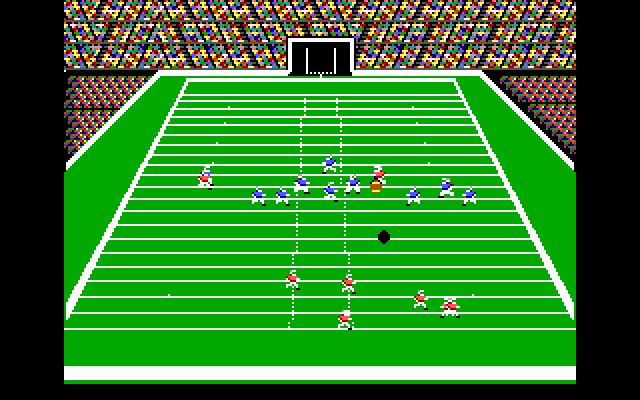 John Madden Football DOS Receiving a kick.