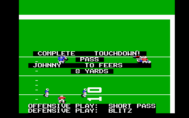John Madden Football DOS Arright! Touchdown!