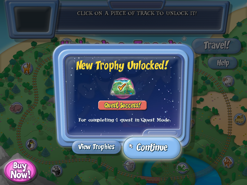 The Amazing Brain Train! Linux You won a trophy for completing your first quest.