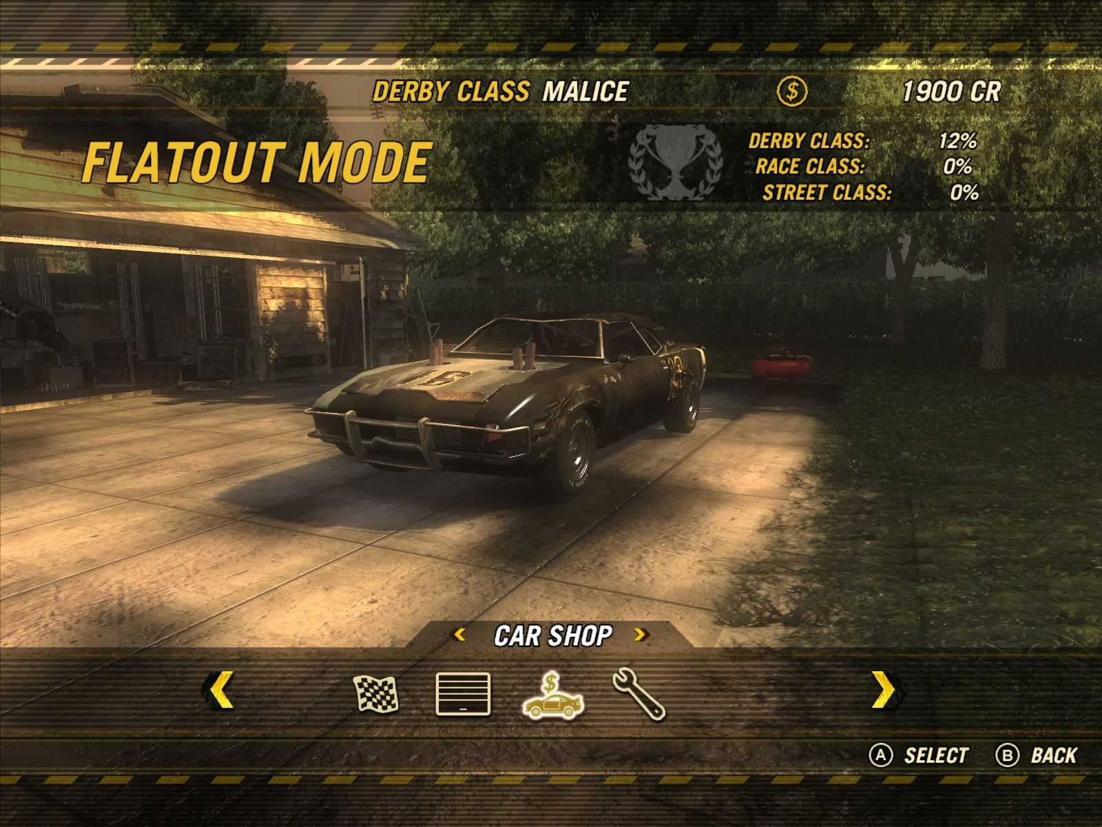 FlatOut: Ultimate Carnage Windows The main screen of the Flatout Mode - where everything happens.