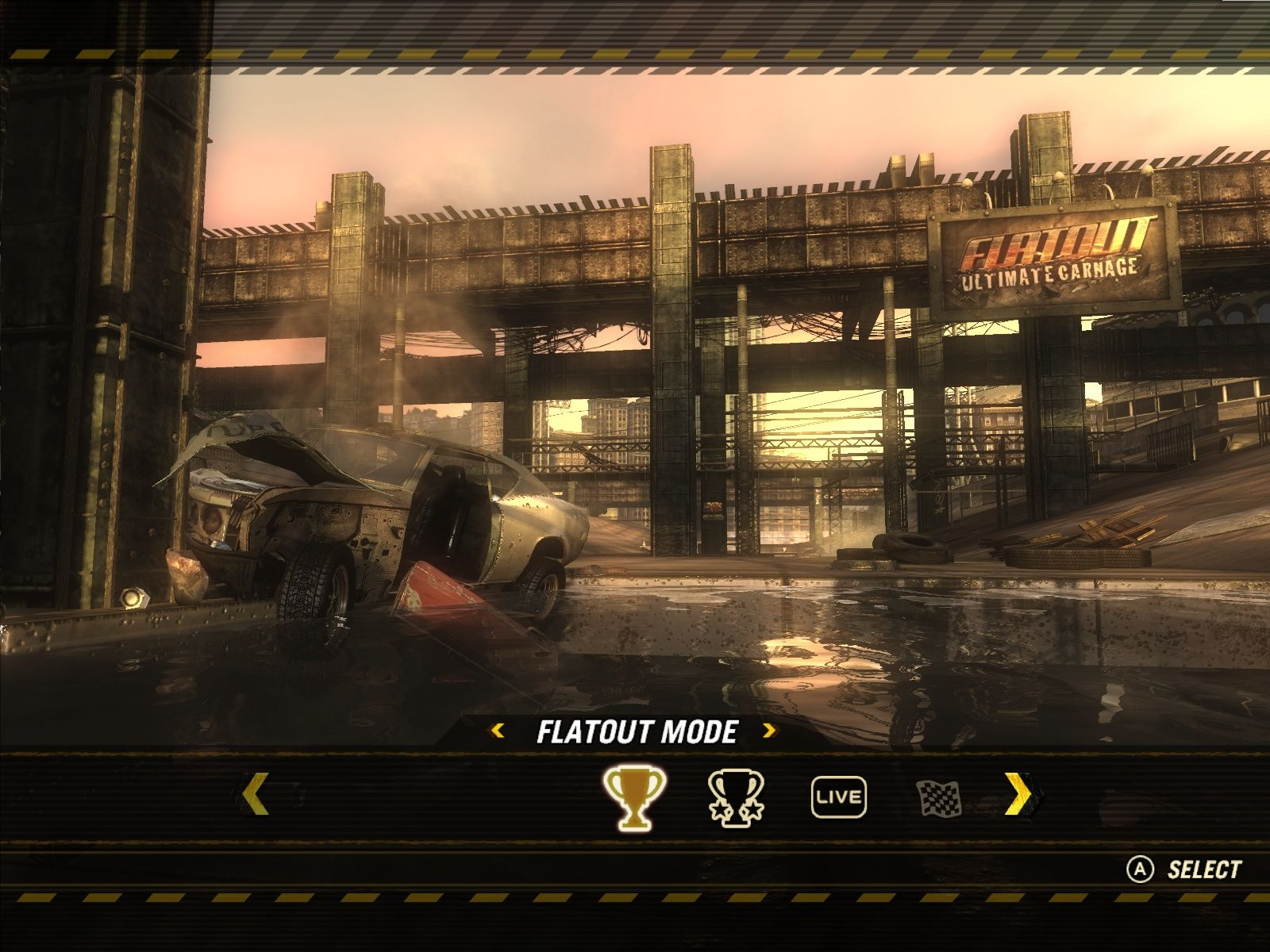 FlatOut: Ultimate Carnage Windows Main menu