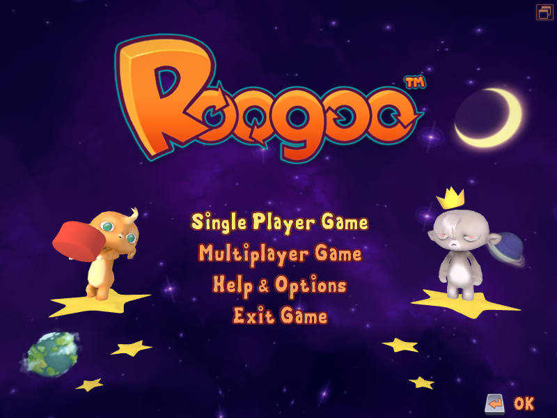 Roogoo Windows Main menu