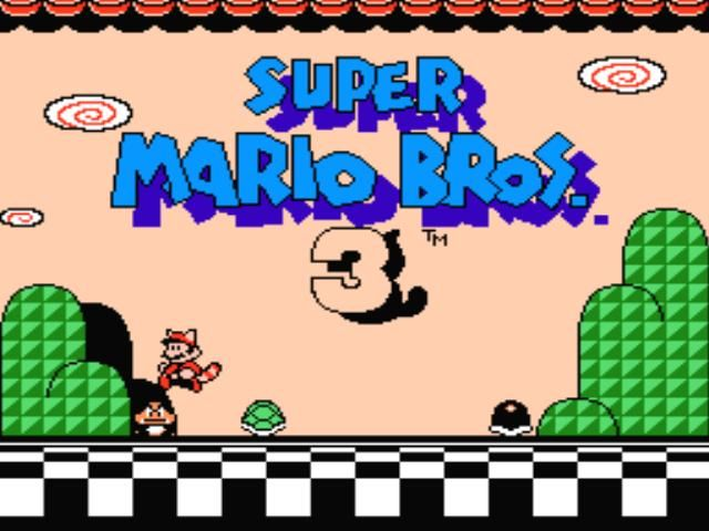 Super Mario Bros. 3 NES Title screen