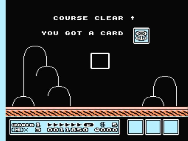 Super Mario Bros. 3 NES Completing a level