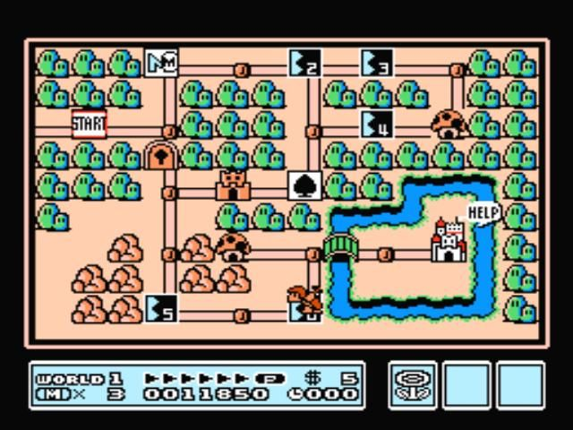 Super Mario Bros. 3 NES World map