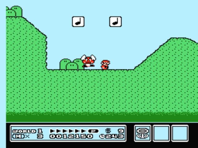 Super Mario Bros. 3 NES This winged thingy is dancing to the music