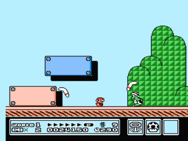 Super Mario Bros. 3 NES Throwing boomerangs? That's not nice