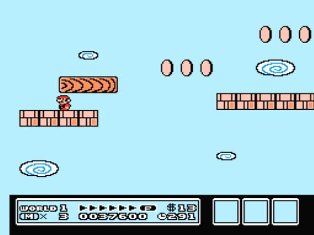 Super Mario Bros. 3 NES A nasty scrolling level with falling bridges