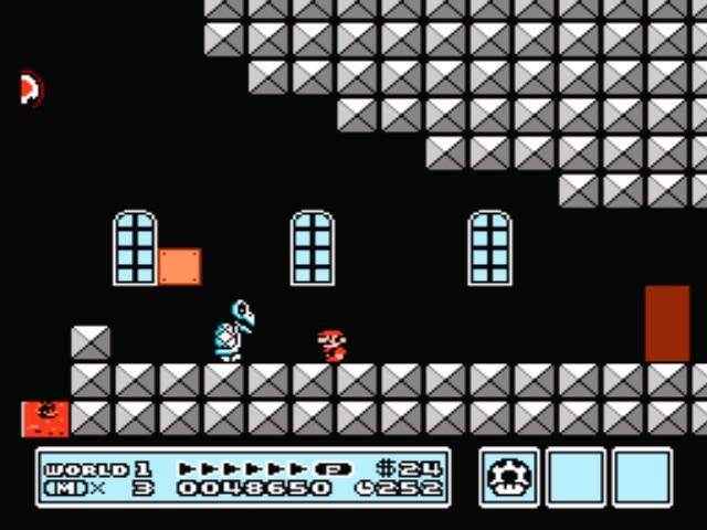 Super Mario Bros. 3 NES Nice skeleton