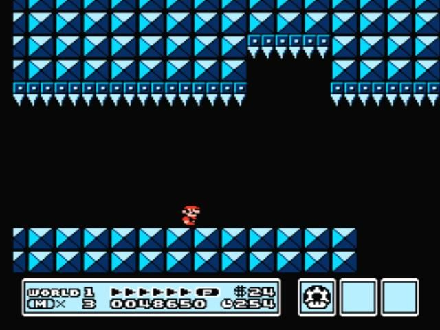 Super Mario Bros. 3 NES Run quickly, or those teeth will close on you