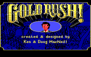 Gold Rush! DOS Title screen and credits