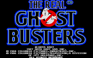 The Real Ghostbusters Atari ST Title screen