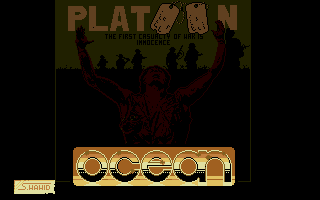 Platoon Atari ST Title screen