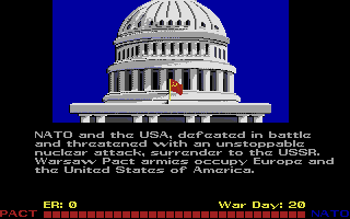 Red Storm Rising Atari ST In the end, a humiliating defeat not just for your country