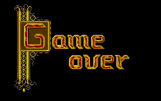 The Seven Gates of Jambala Atari ST Game over!  (and how!)