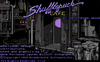Shufflepuck Cafe Atari ST Title screen