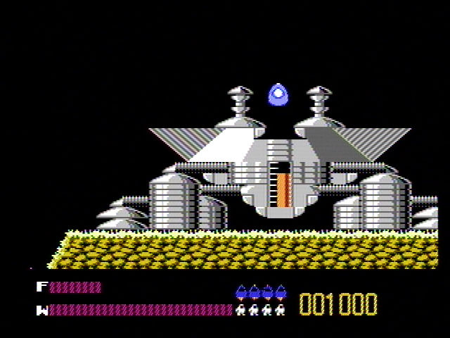 Solar Jetman: Hunt for the Golden Warpship NES The jetpod leaving the mother ship