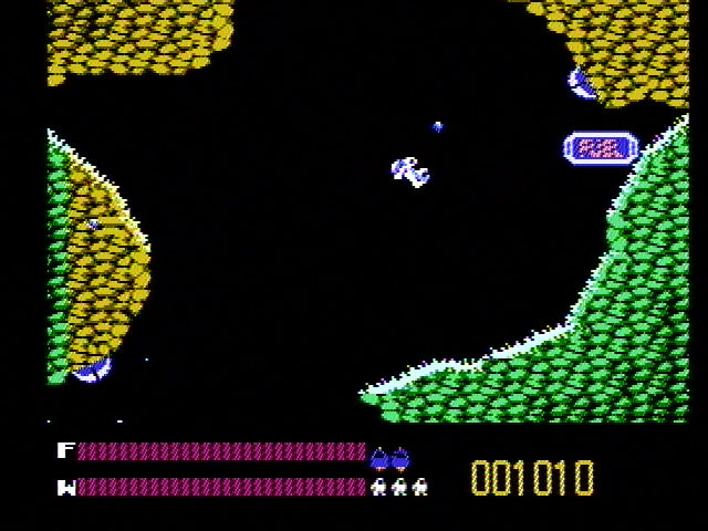 Solar Jetman: Hunt for the Golden Warpship NES The jetpod has been destroyed