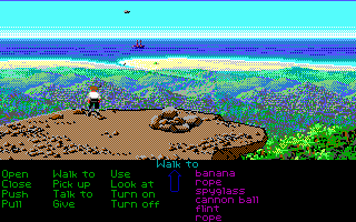 The Secret of Monkey Island DOS Monkey Island lookout (EGA version)