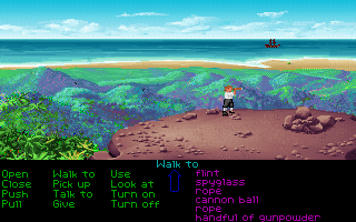 The Secret of Monkey Island DOS The lookpoint in 256 colors. (VGA version)