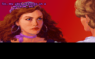 The Secret of Monkey Island DOS Guybrush meets with governor Elaine Marley