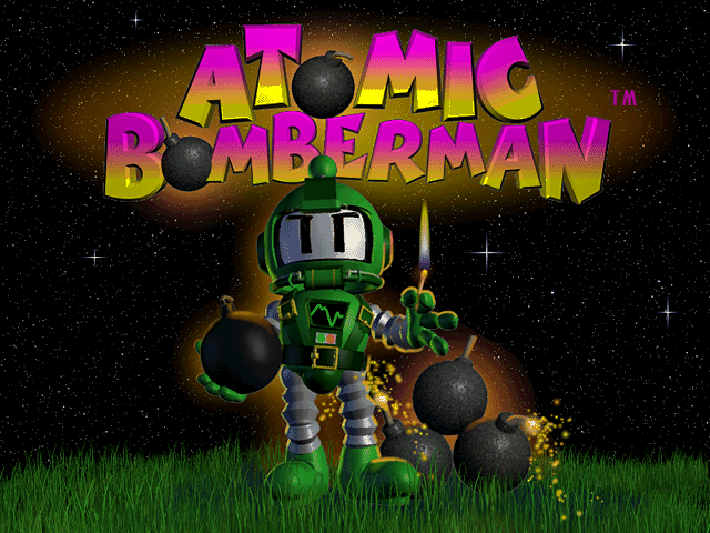 Atomic Bomberman Windows Title screen