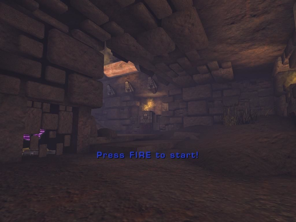 Unreal Tournament 2003 Windows Just so you don't die right away, the game won't throw you into battle without you pressing fire.