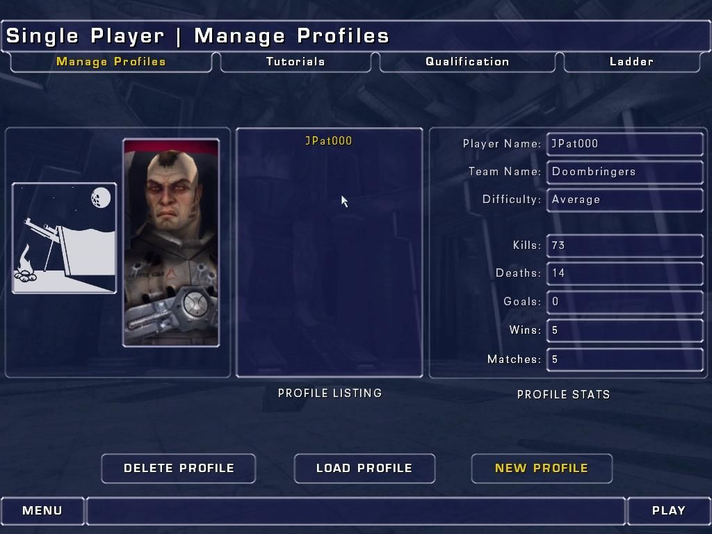 Unreal Tournament 2003 Windows You can create separate profiles; this is mine.