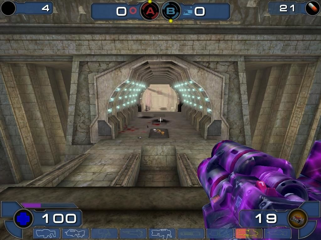 Unreal Tournament 2003 Windows When your weapon glows, you've run over a Damage Amplifier and can kick serious ass.