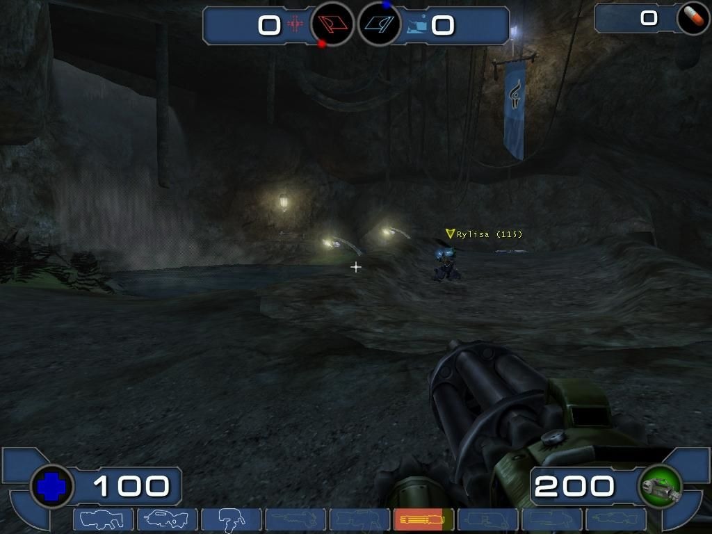 Unreal Tournament 2003 Windows At my base, in a dark cavern.