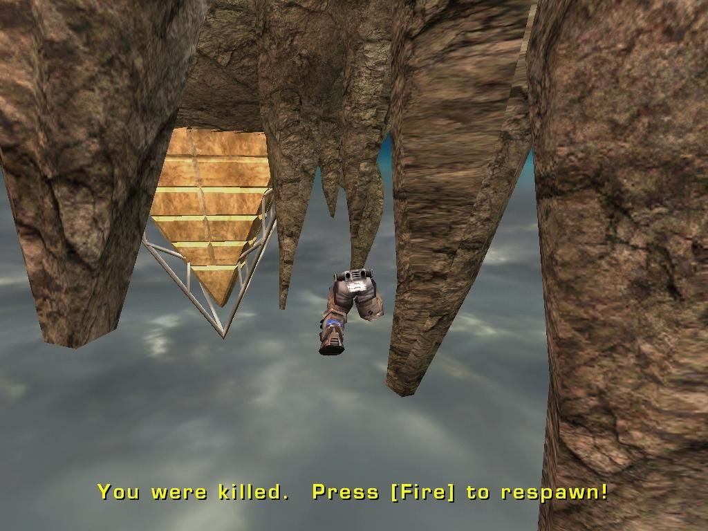 Unreal Tournament 2003 Windows Must've been a rocket; how else could it blow away my body parts?