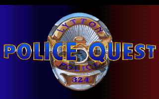 Police Quest: In Pursuit of the Death Angel DOS Title screen #1